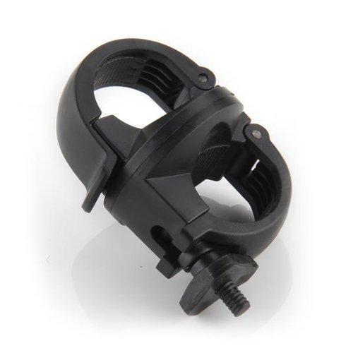 Montura Soporte Giratorio para Linterna Plástico Duro Negro 1