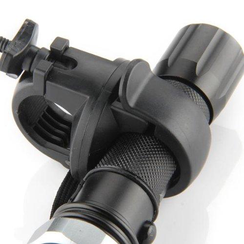 Montura Soporte Giratorio para Linterna Plástico Duro Negro 2