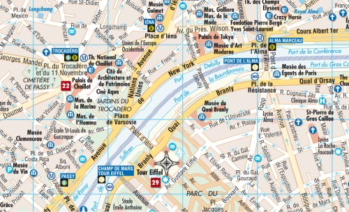 Laminated Paris Map by Borch (English, Spanish, French, Italian and German Edition) 1