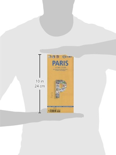Laminated Paris Map by Borch (English, Spanish, French, Italian and German Edition) 2