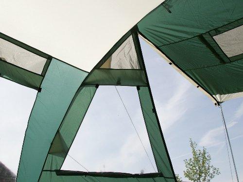 Skandika Jasper II - Tienda de campaña familiar, capacidad 6 (+9) personas, 615 x 400 cm, color verde 2