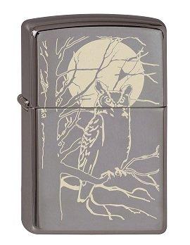 Zippo 2.003.086 Owl Moon Collection 2013 - Mechero, diseño de búho, color negro 1