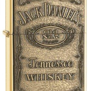 Zippo Jack Daniel's Tennessee Whiskey Emblem Pocket Lighter, High Polish Brass 13