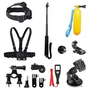 BEEWAY® BS12 - Kit 6 en 1 de accesorios deportivos para camarás de accion (GoPro, SONY, ThiEYE, SJACM, Qumox, Rollei, Xiaomi Yi y DBPOWER) 2