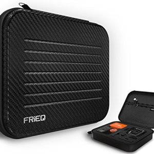 FRiEQ Medium Size Premium Water Resistant Carry Case for Gopro Hero 4, Black, Silver, Hero+LCD, 3+, 3, 2 and Accessories--Ideal for Travel or Home Storage 4