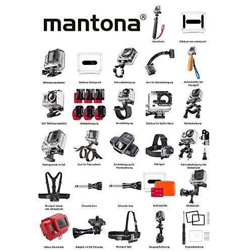 Mantona 20233 - Adaptador de tornillo para rosca (adecuado para GoPro), color negro 2