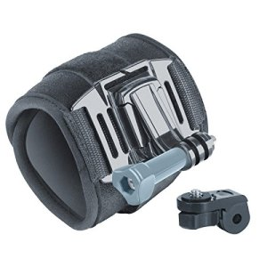 Large Wrist Strap Action Camera Mount with 2-Point Neoprene Strap , J Hook and Tripod Adapter by USA Gear - Works With GoPro Hero4 , HTC RE Camera , Ion Air Pro 3 and More 10