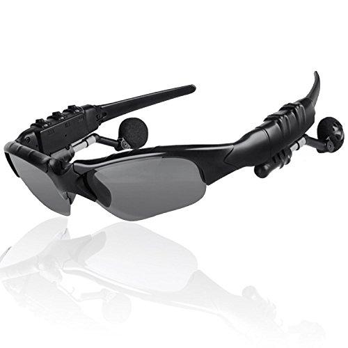 THB-368 Inalámbricas manos libres estéreo auriculares Bluetooth gafas de sol con lente gris oscurezca 4