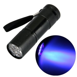 Ecloud Shop 9 LED Linterna Luz Ultravioleta Antorcha Detector de Billete falso 11