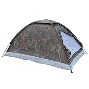 Lixada 2 Person Camping Tent Single Layer Outdoor Portable with Carry Bag Camouflage 10