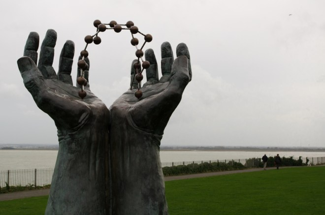 Molecule Hands at West Cliff, Ramsgate