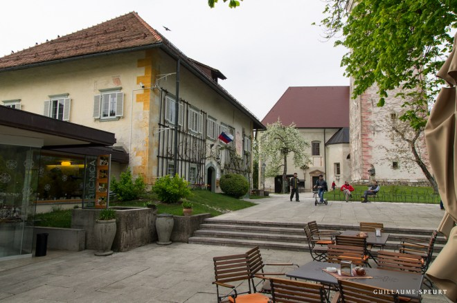 Square on Bled island (Bled, Slovenia, 2015)