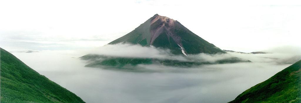 Volván en las islas Kuriles