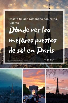 Dónde ver las mejores puestas de sol en París