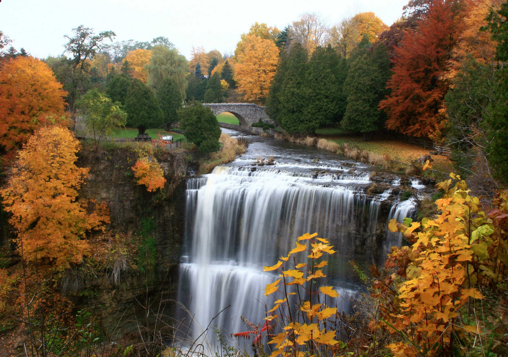 Webster's Falls - Fall colours at Spencer Gorge