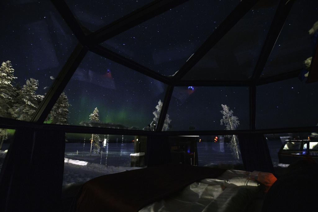 Resort de cristal en el ártico