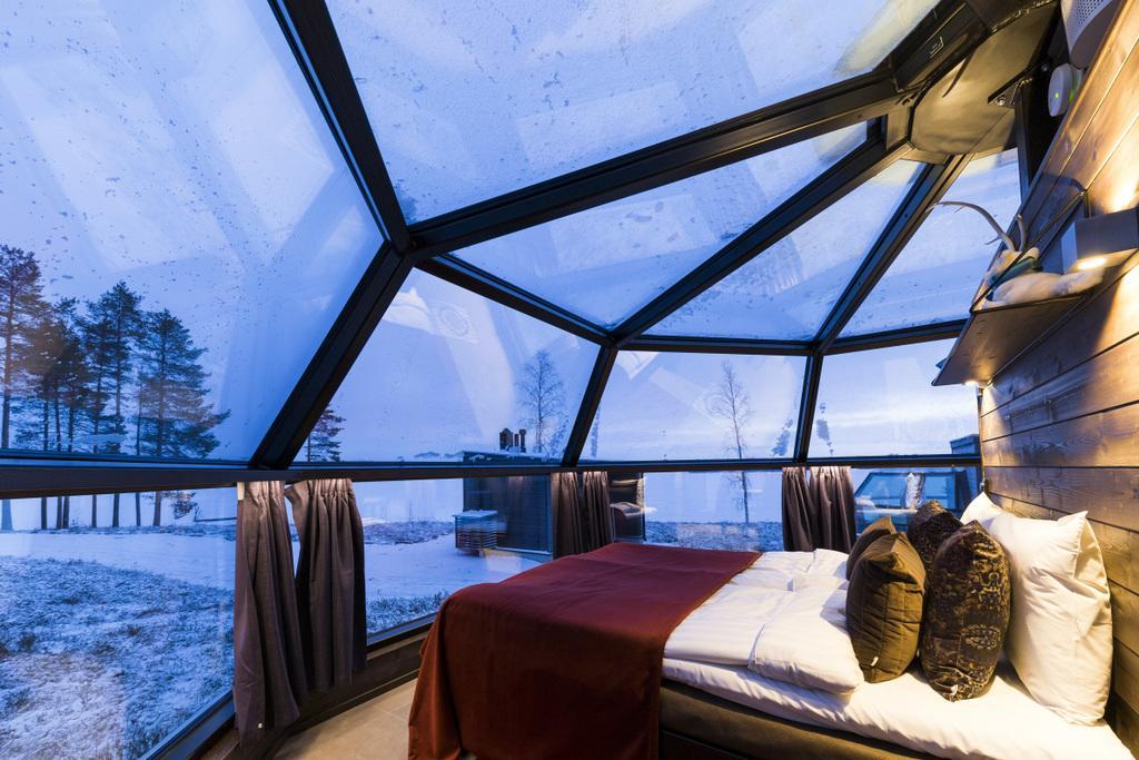 Disfrutar auroras boreales en el hotel