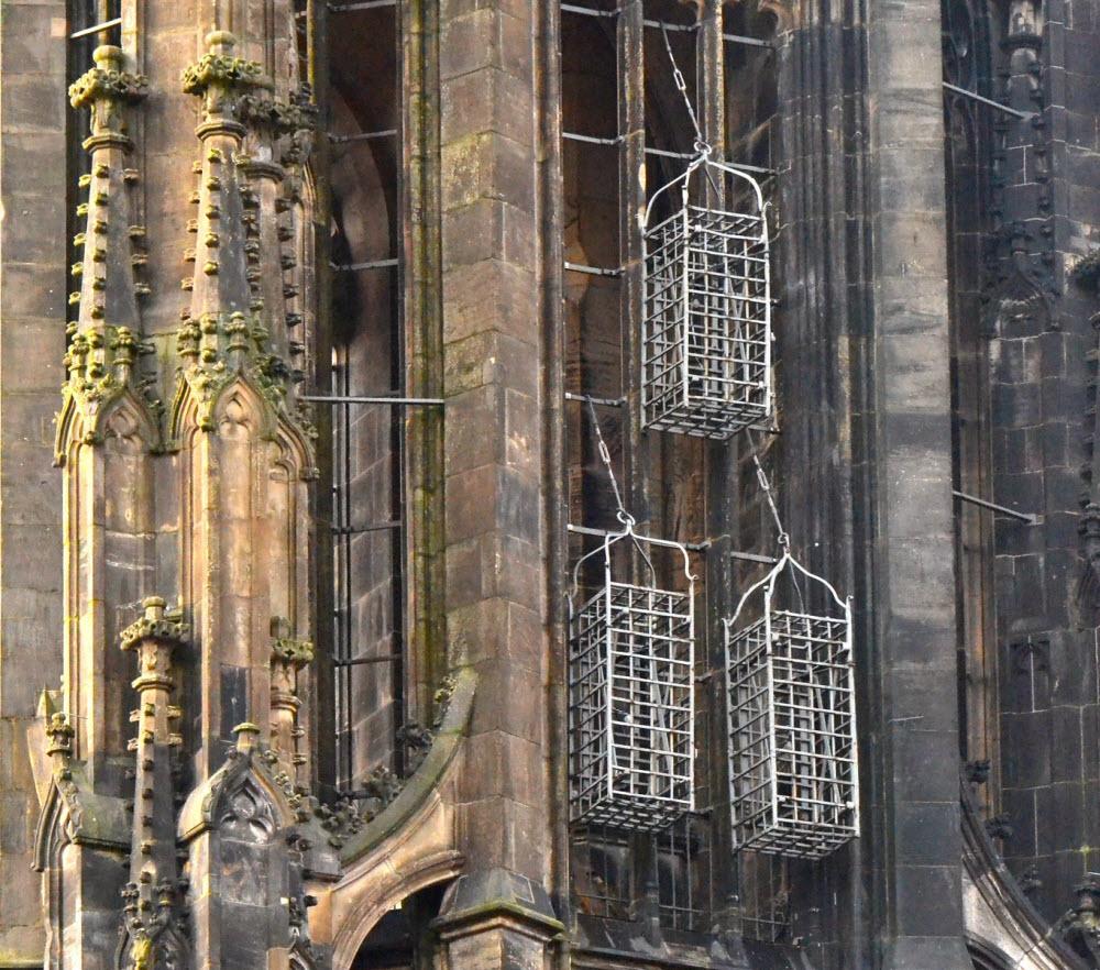 Las jaulas colgantes de la iglesia de San Lamberto en Münster 6