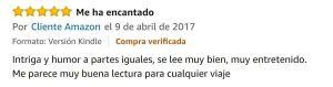Opinión Viajeros Infrecuentes Amazon