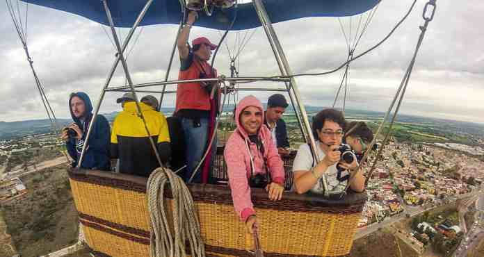 Volar en globo en San Miguel de Allende