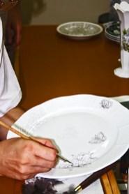 Plato porcelana pintado a mano Herend Hungría