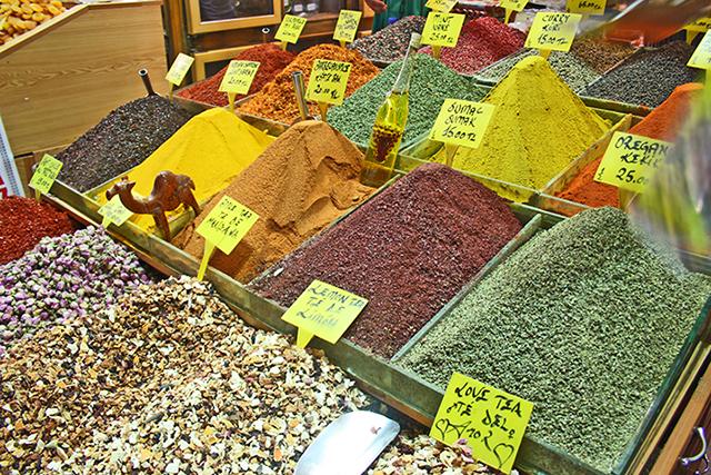 Especias Bazar de las especias Estambul