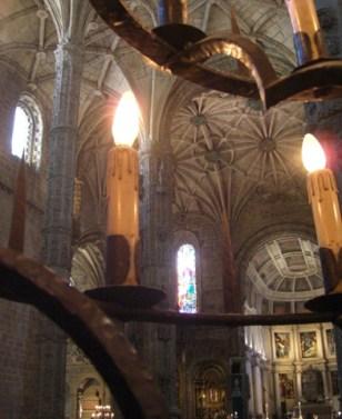 Velas cúpula Monasterio Dos Jeronimos Lisboa
