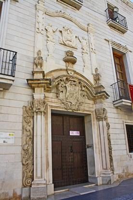 Fachada barroca Archivo Histórico Municipal Orihuela Alicante