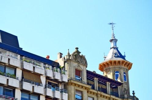 Torre elegante clásica decoración vivienda San Sebastián