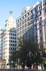 Edificios fachadas arquitectura preguerra Gran Vía Madrid