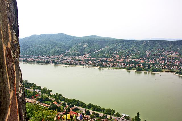Vistas ciudadela Visegrád Hungría