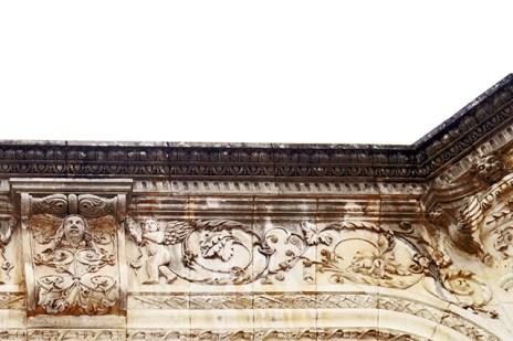 Friso decoración muro calles Tours