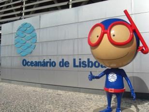 Mascota buzo Oceanario Lisboa Exposicion Universal