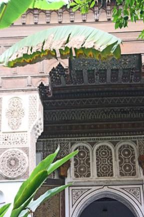 Hojas palmera decoración filigranas celosías simetrías árabes Dar Si Said Marrakech