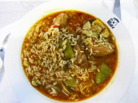 Plato arroz brut sierra Tramontana Mallorca