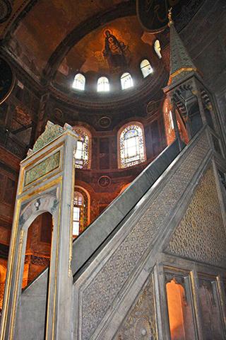 Altar mahfil imám oración Santa Sofía Estambul