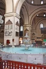 Fuente agua sagrada Islam decoración mezquita Bursa