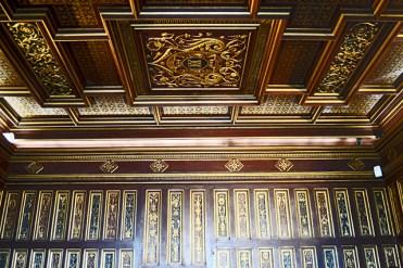 Estuco techo filigranas oro habitación Caterina Medicis castillo Blois