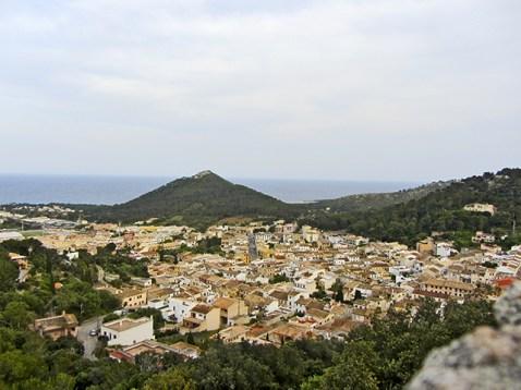 Panorámica centro histórico Capdepera Cala Ratjada Mallorca