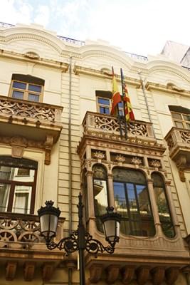 Fachada casa caracoles Sede Generalitat Valenciana Castellón de la Plana
