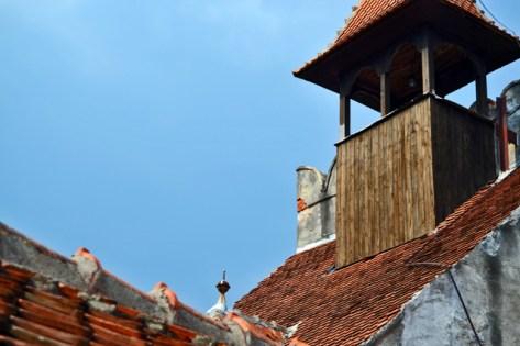 Tejados chimeneas Castillo Bran Drácula Rumanía