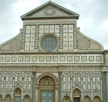 fachada Iglesia Santa Maria Novella Florencia