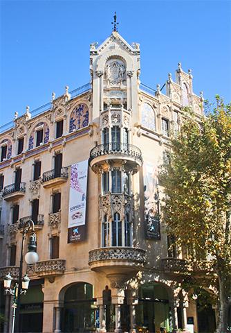 Fachada modernista Gran Hotel Palma de Mallorca