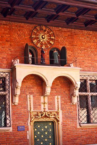 Reloj carrillón muñecos Collegium Maius Cracovia