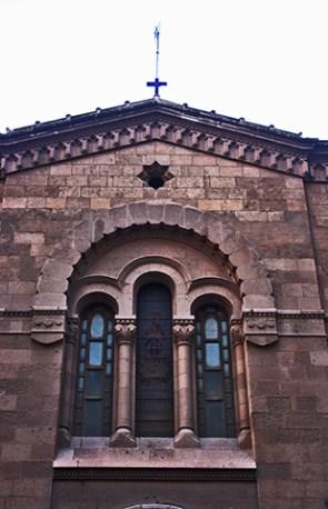 Fachada piedra Compañía Virgen María Rambla Obispo Orbera Almería