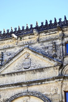 Frontón decoración fachada plateresca esculturas Casa de las Torres Úbeda Jaén