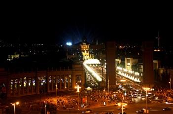 Luces sonido espectáculo Fuente Mágica Montjuïc Barcelona