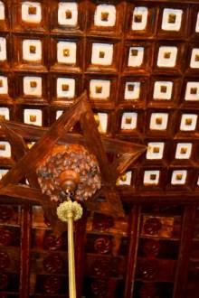 Estrella David madera techos decoración barrio judío Úbeda Jaén