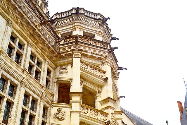 Escalera renacentista octogonal patio Castillo Blois Francia