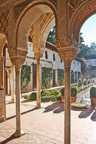 Decoración arcos árabes Generalife Granada